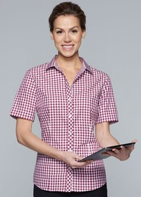 'AP Business' Ladies Brighton Short Sleeve Shirt