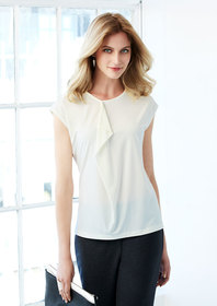 'Biz Collection' Ladies Mia Pleat Knit Top