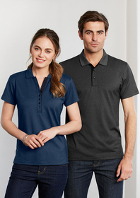 'Biz Collection' Mens Shadow Polo