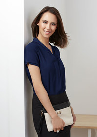 'Biz Collection' Ladies Madison Short Sleeve Blouse