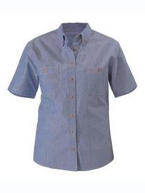 'Bisley Workwear' Ladies Short Sleeve Chambray Shirt