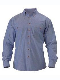 'Bisley Workwear' Long Sleeve Chambray Shirt