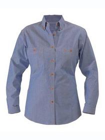'Bisley Workwear' Ladies Long Sleeve Chambray Shirt