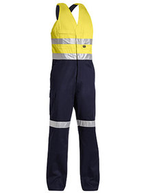 'Bisley Workwear'  3M Taped 2 Tone Hi Vis Action Back Overall