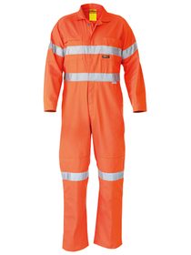 'Bisley Workwear' HiVis Lightweight Coveralls 3M Reflective Tape