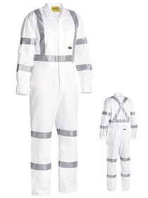 'Bisley Workwear' 3M Taped White Drill Coverall