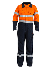 'Bisley Workwear' TenCate Tecasafe® Plus Taped 2 Tone Hi Vis FR Engineered Vented Coverall