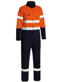'Bisley Workwear' TenCate Tecasafe® Plus Taped HiVis 2 Tone FR Lightweight Engineered Coverall