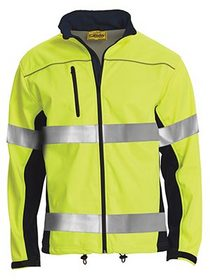 'Bisley Workwear' HiVis 2 Tone Taped Soft Shell Jacket