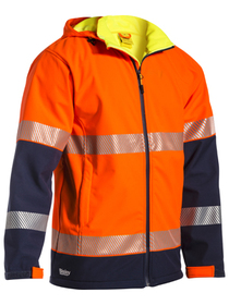 'Bisley Workwear'  Taped Two Tone Hi Vis Ripstop Softshell Jacket
