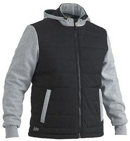 'Bisley Workwear'  Flex and Move Contrast Puffer Fleece Hoodie