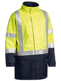 'Bisley Workwear' 3M Taped Two Tone Hi Vis Anti Static Wet Weather Jacket