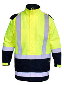 'Bisley Workwear' HiVis Two Tone Taped Shell Rain Jacket
