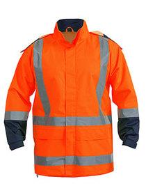 'Bisley Workwear' HiVis Taped Shell Rain Jacket