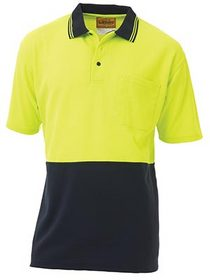 'Bisley Workwear' HiVis Two Tone Short Sleeve Polo