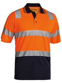 'Bisley Workwear' 3M Taped HiVis Two Tone Micromesh Short Sleeve Polo Shirt