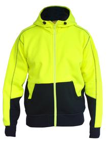 'Bisley Workwear'  HiVis Fleece Hoodie