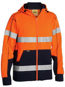'Bisley Workwear' Taped HiVis Fleece Hoodie