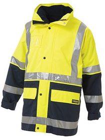 'Bisley Workwear' HiVis 3M Taped 5-In-1 Rain Jacket