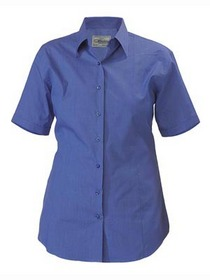 'Bisley Workwear' Ladies Short Sleeve Cross-Dyed Business Shirt