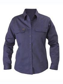 'Bisley Workwear' Ladies Cotton Drill Long Sleeve Shirt