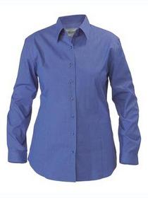 'Bisley Workwear' Ladies Long Sleeve Cross-Dyed Business Shirt