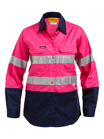 'Bisley Workwear'  Women's 3M Taped Cool Light Weight Shirt