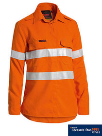 'Bisley Workwear'  WomensTenCate Tecasafe® Taped FR HiVis Light Weight Vented Long Sleeve Shirt