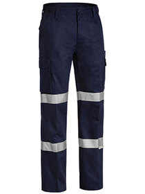 'Bisley Workwear' 3M Double Taped Cotton Drill Cargo Work Pant