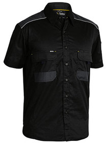 'Bisley Workwear' Flex and Move Mechanical Stretch Shirt Short Sleeve