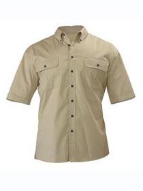 'Bisley Workwear' Mini Twill Short Sleeve Shirt