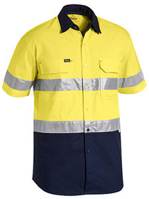 'Bisley Workwear' Mens X Airflow Ripstop Short Sleeve Shirt