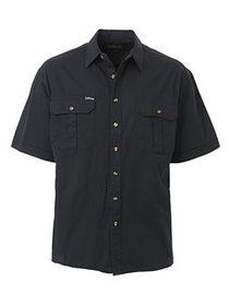 'Bisley Workwear' Original Cotton Drill Short Sleeve Shirt