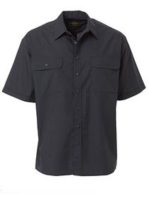 'Bisley Workwear' Permanent Short Sleeve Press Shirt