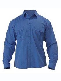 'Bisley Workwear' Long Sleeve Metro Shirt