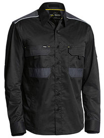 'Bisley Workwear' Flex and Move Mechanical Stretch Long Sleeve Shirt