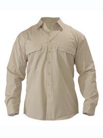 'Bisley Workwear' Cool Lightweight Long Sleeve Adventure Shirt