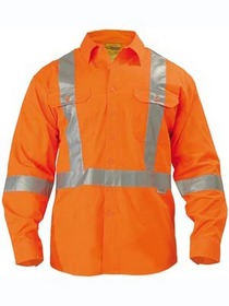 'Bisley Workwear'  3M X Taped Cool Lightweight HiVis Long Gusset Sleeve Drill Shirt
