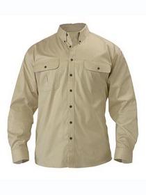 'Bisley Workwear' Mini Twill Long Sleeve Shirt