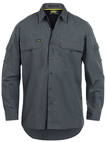 'Bisley Workwear' Mens X Airflow Ripstop Long Sleeve Shirt