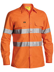 'Bisley Workwear'  X Airflow Ripstop 3M Taped HiVis Long Sleeve Shirt