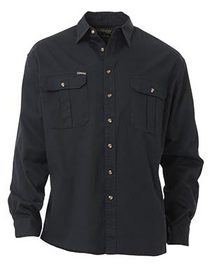 'Bisley Workwear' Original Cotton Drill Long Sleeve Shirt