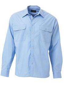 'Bisley Workwear' Permanent Long Sleeve Press Shirt