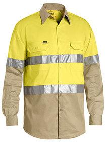 'Bisley Workwear'  Men's 3M Taped Hi Vis Cool Light Weight Shirt