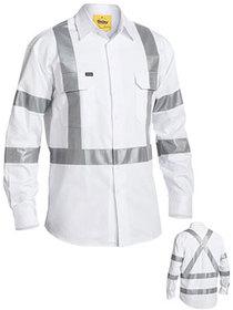 'Bisley Workwear' 3M Taped White Drill Shirt
