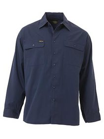 'Bisley Workwear' Cool Lightweight Long Sleeve Drill Shirt
