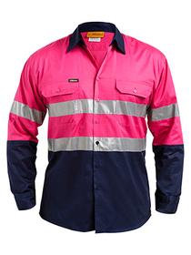 'Bisley Workwear'  Men's 3M Taped Cool Light Weight Shirt