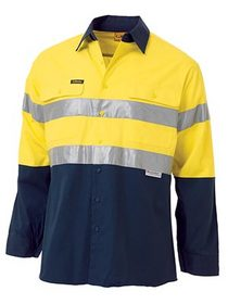 'Bisley Workwear'  3M Taped Cool Lightweight HiVis Long Gusset Sleeve Shirt