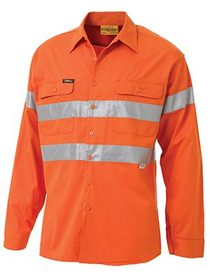 'Bisley Workwear' 3M Taped HiVis Cool Lightweight Long Sleeve Drill Shirt