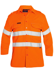 'Bisley Workwear'  TenCate Tecasafe® Plus Taped Hi Vis FR Vented Long Sleeve Shirt